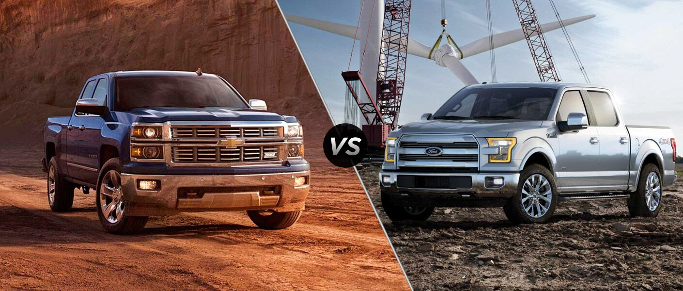 2015 Chevy Silverado 1500 vs 2015 Ford F-150
