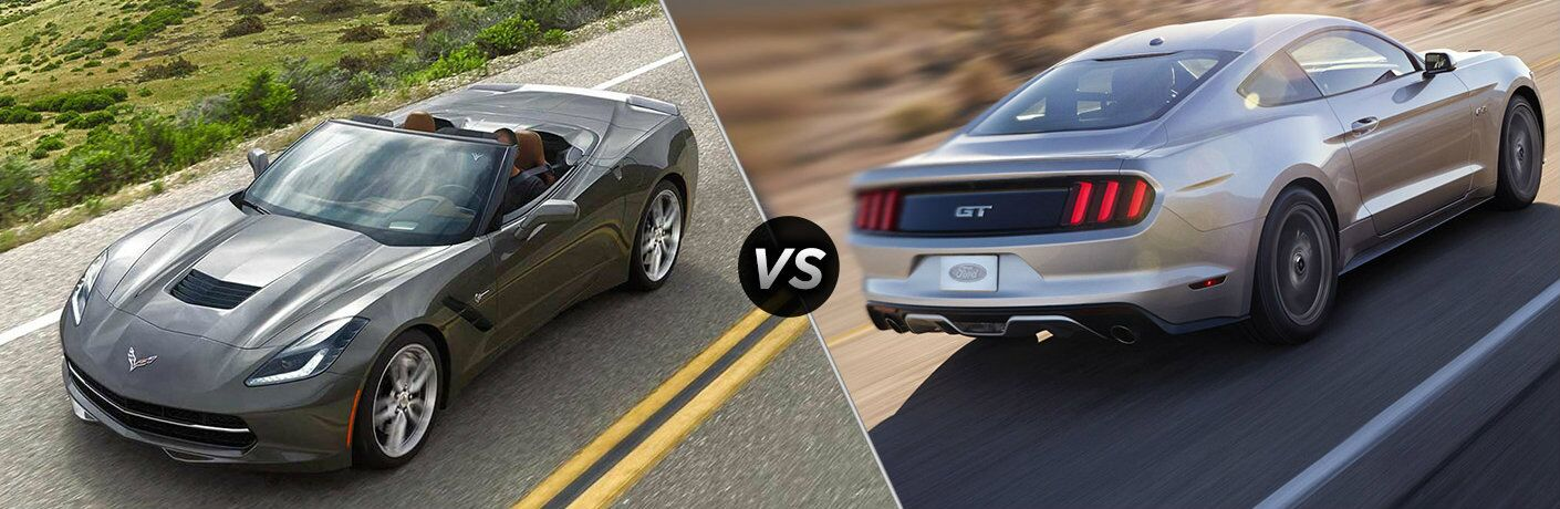 2016 Chevy Corvette Stingray vs 2016 Ford Mustang