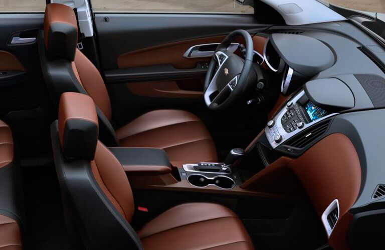 2016 Chevy Equinox Brown and Black Interior