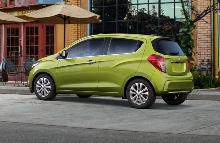 2016 Chevy Spark Green in the City