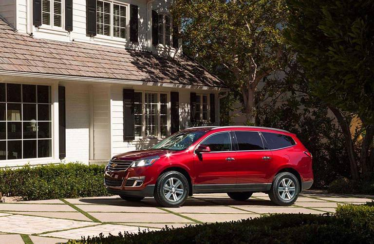 2016 Chevy Traverse in Front of House
