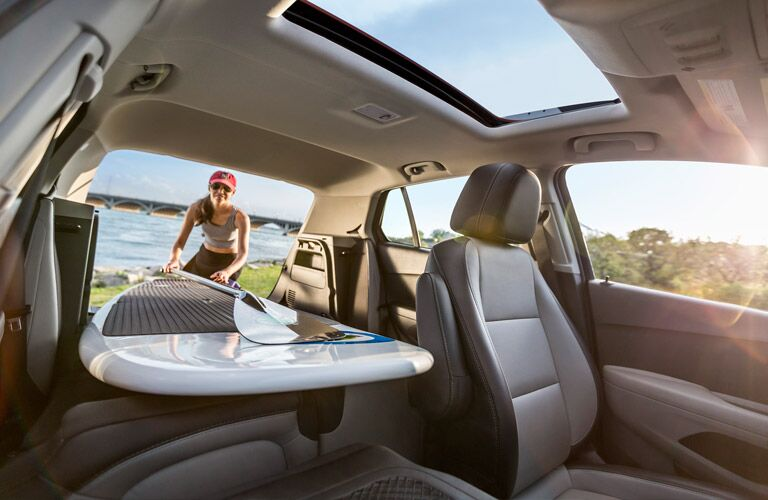 can I fit a surf board in the 2016 chevy trax