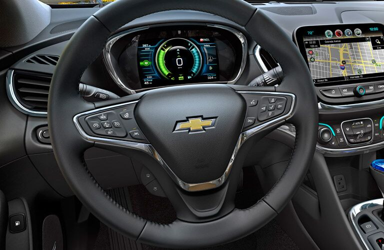 what functions does the driver information screen have on the 2016 chevy volt