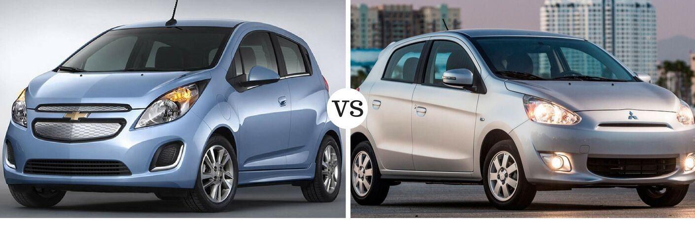 2016 Chevy Spark vs 2015 Mitsubishi Mirage
