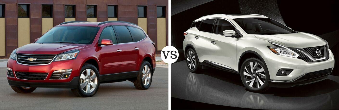 2016 Chevy Traverse vs 2016 Nissan Murano