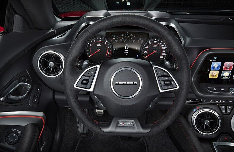 2017 Chevy Camaro Steering Wheel and Gauges