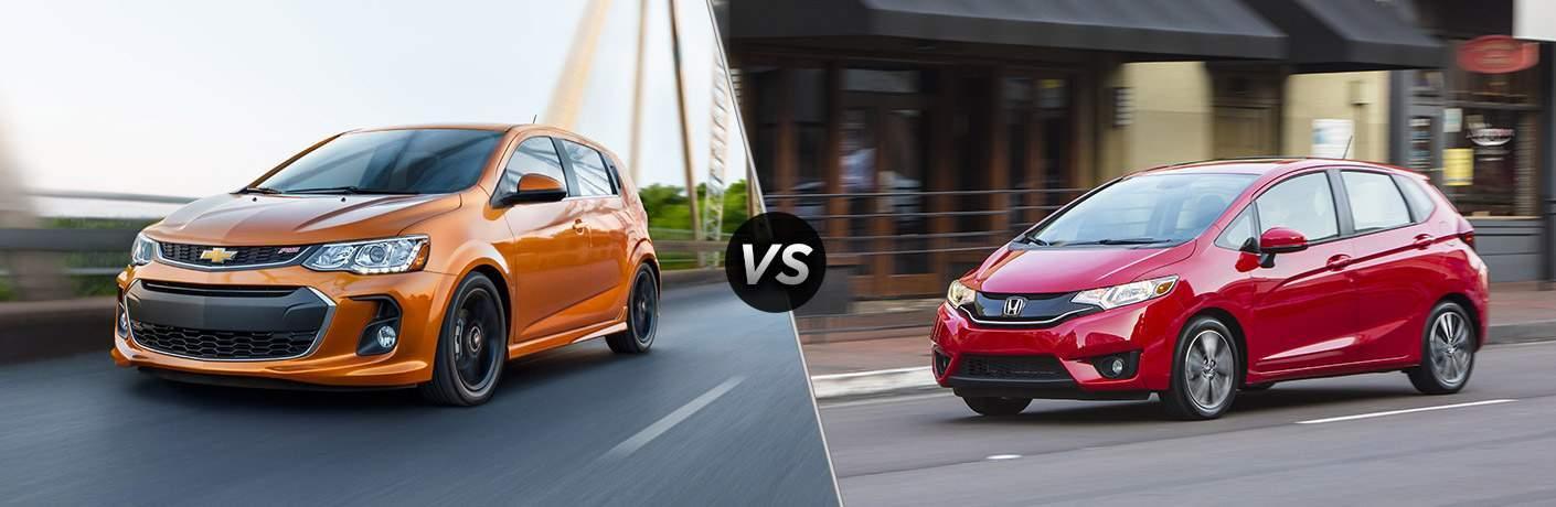 2017 Chevy Sonic vs 2017 Honda Fit