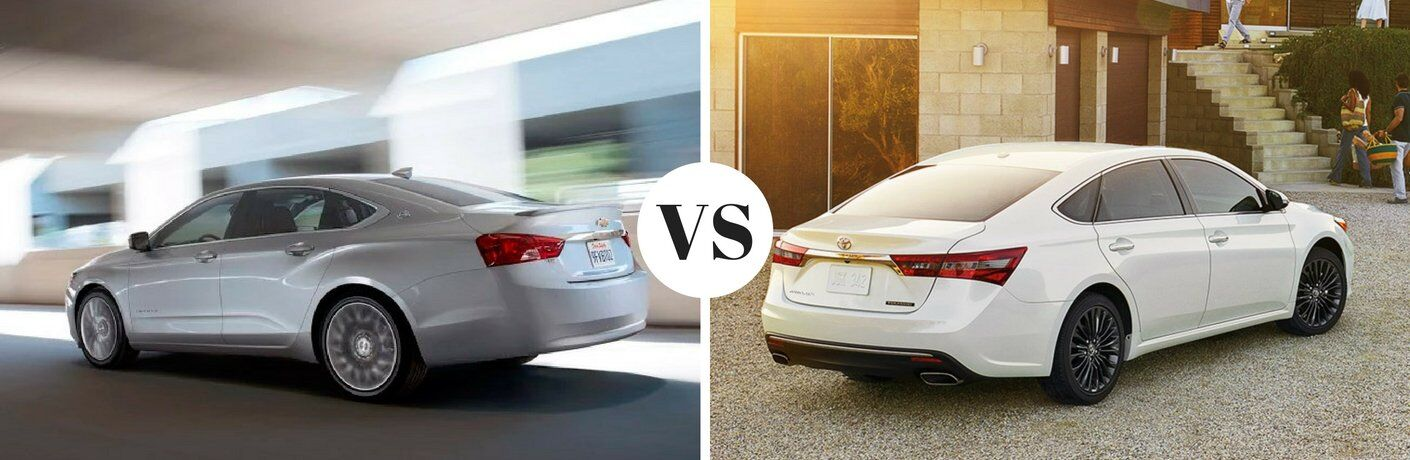 2017 Chevy Impala vs 2017 Toyota Avalon