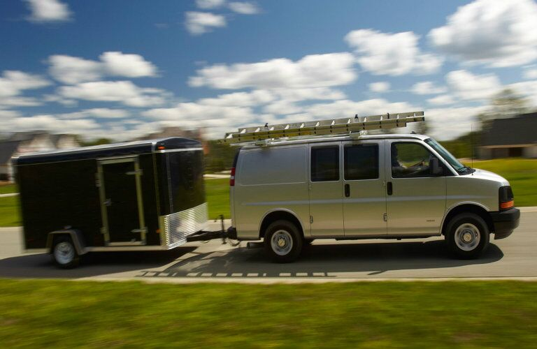 2016 Chevy Express Towing Trailer