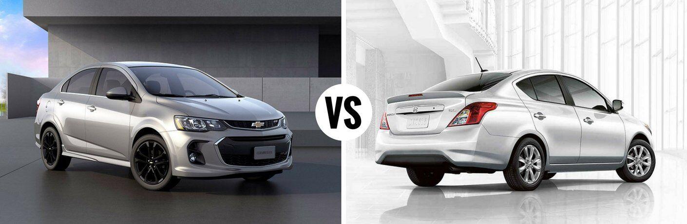 2017 Chevy Sonic vs 2017 Nissan Versa