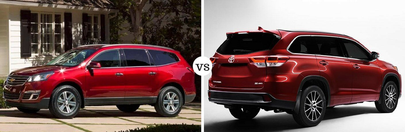 2017 Chevy Traverse vs 2017 Toyota Highlander
