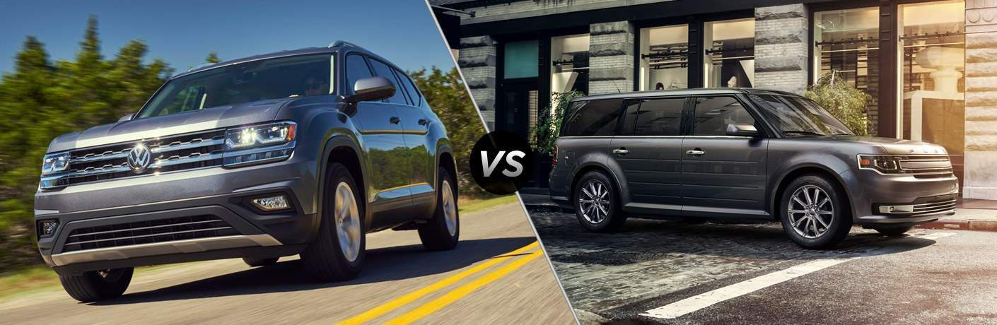 2018 Volkswagen Atlas and 2018 Ford Flex side by side