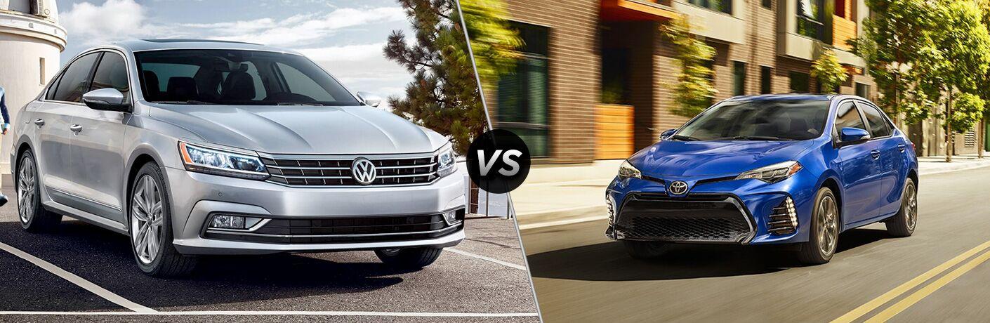 2018 Volkswagen Passat vs 2018 Toyota Corolla