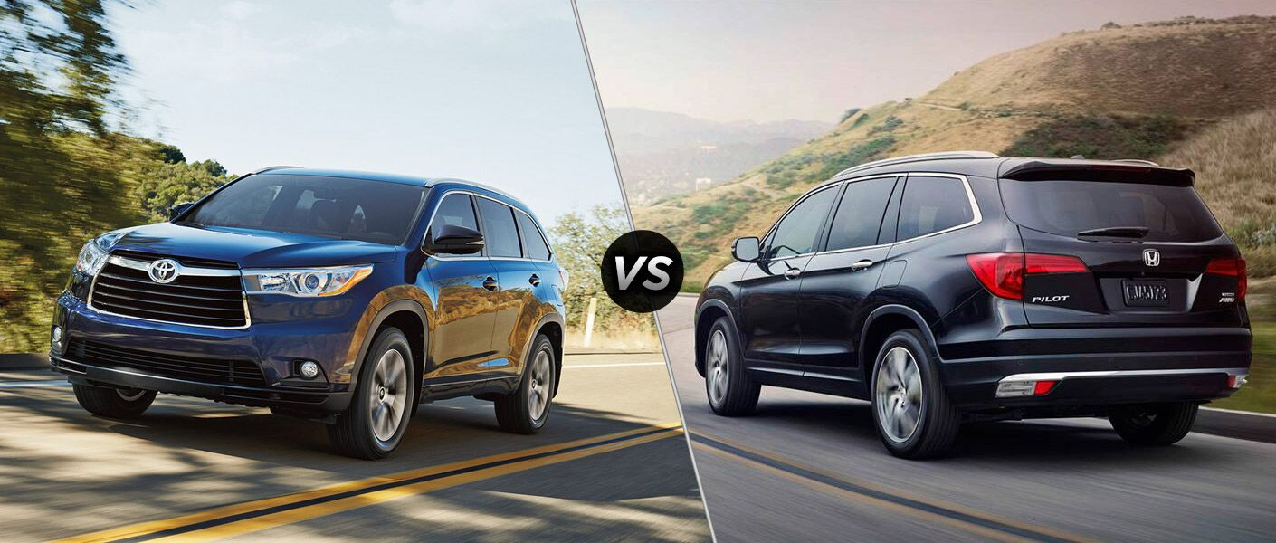 2016 toyota highlander vs 2016 honda pilot for Honda crv vs toyota highlander