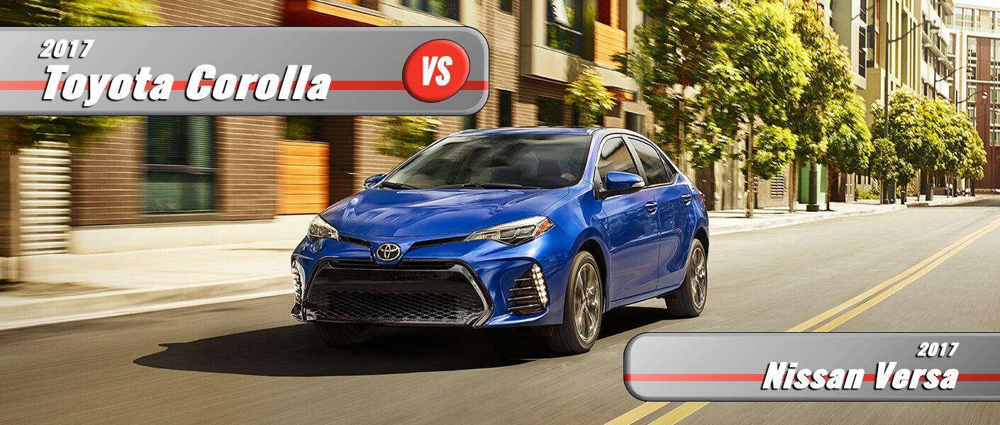 New Nissan Versa VS New Toyota Corolla Burlington NC