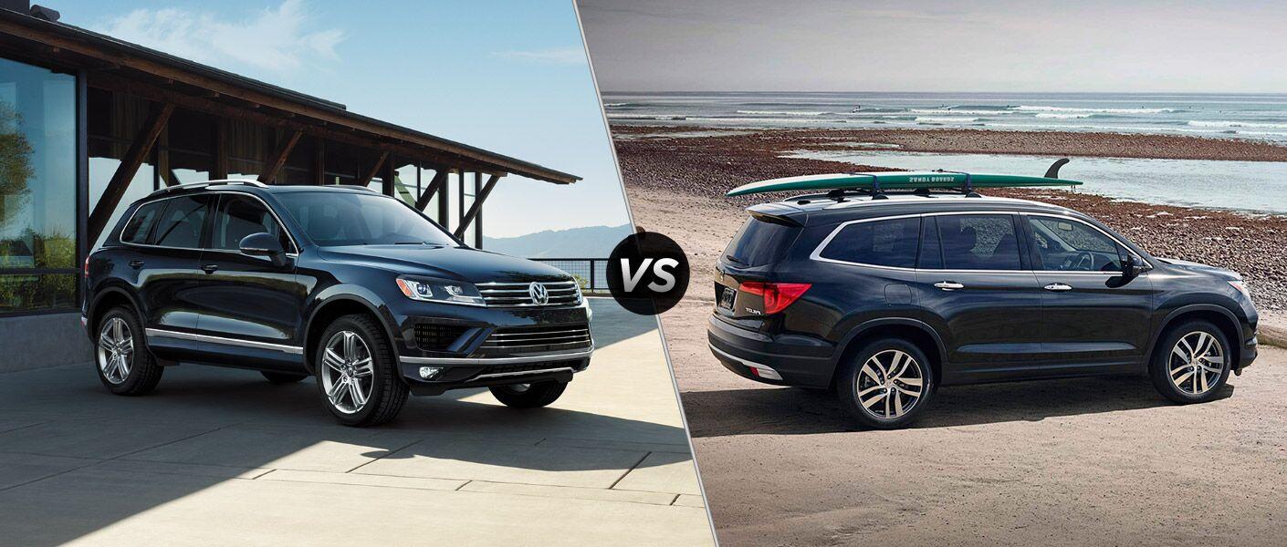 2016 Volkswagen Touareg vs 2016 Honda Pilot