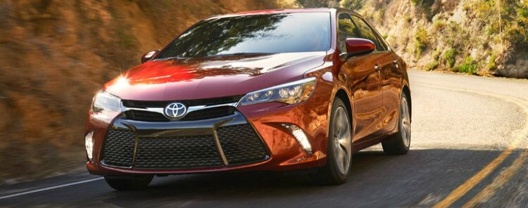 2017 Toyota Camry exterior red front
