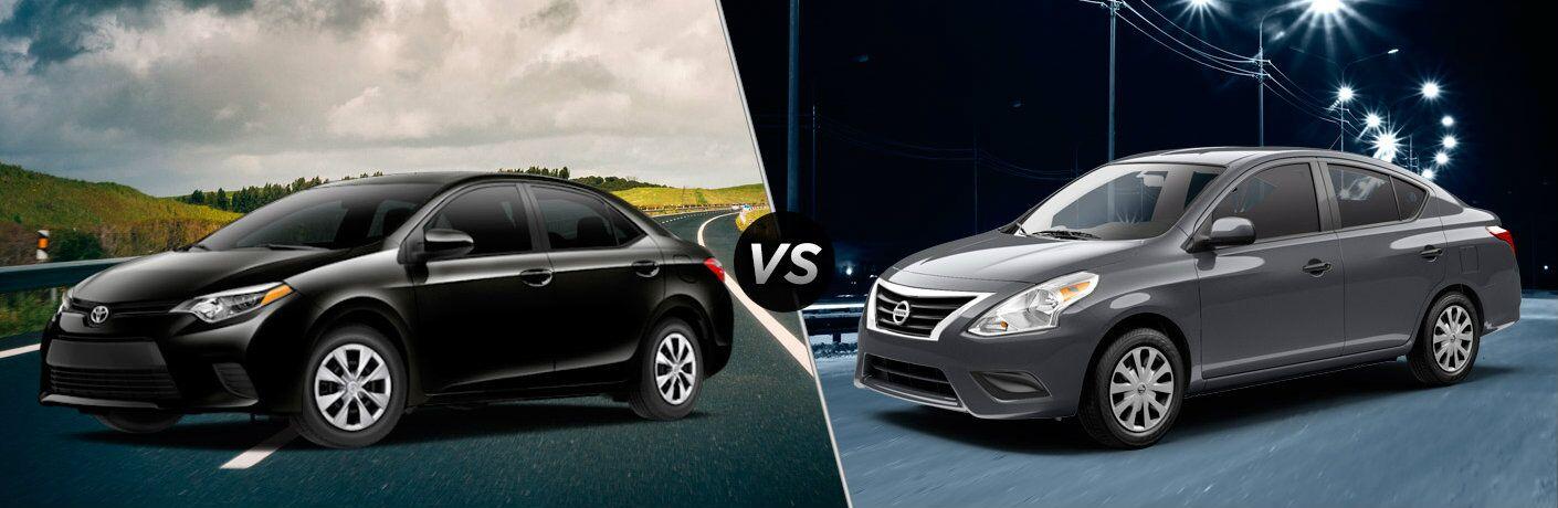 2016 Toyota Corolla vs 2016 Nissan Versa