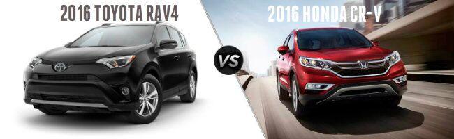 2016 Toyota RAV4 vs 2016 Honda CR-V