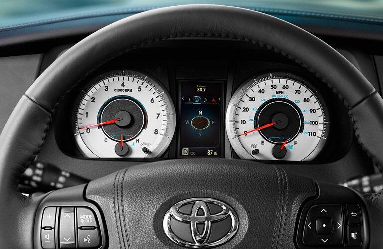 2017 Toyota Sienna interior steering wheel trip computer