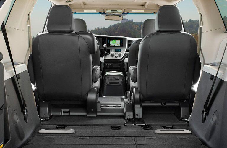 2017 Toyota Sienna interior cargo space