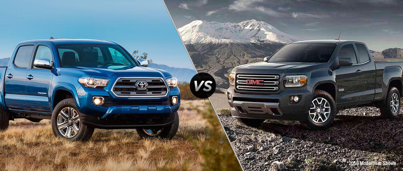 2016 Toyota Tacoma vs 2016 GMC Canyon