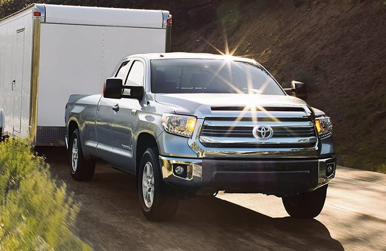 Toyota Tundra towing a trailer