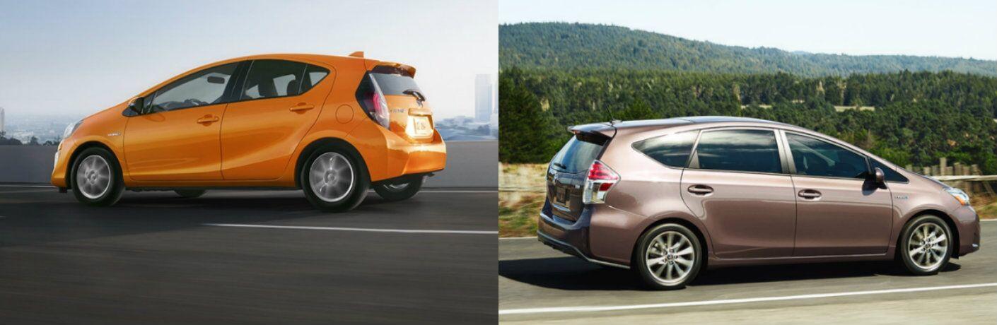 2016 Toyota Prius c vs 2016 Toyota Prius v