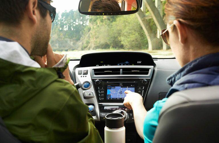 2016 Toyota Prius v navigation system