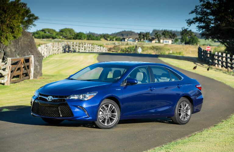 2017 Toyota Camry Hybrid exterior front blue
