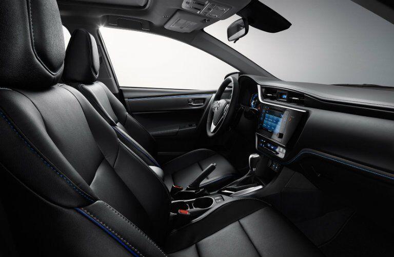 Front interior cabin of 2017 Toyota Corolla