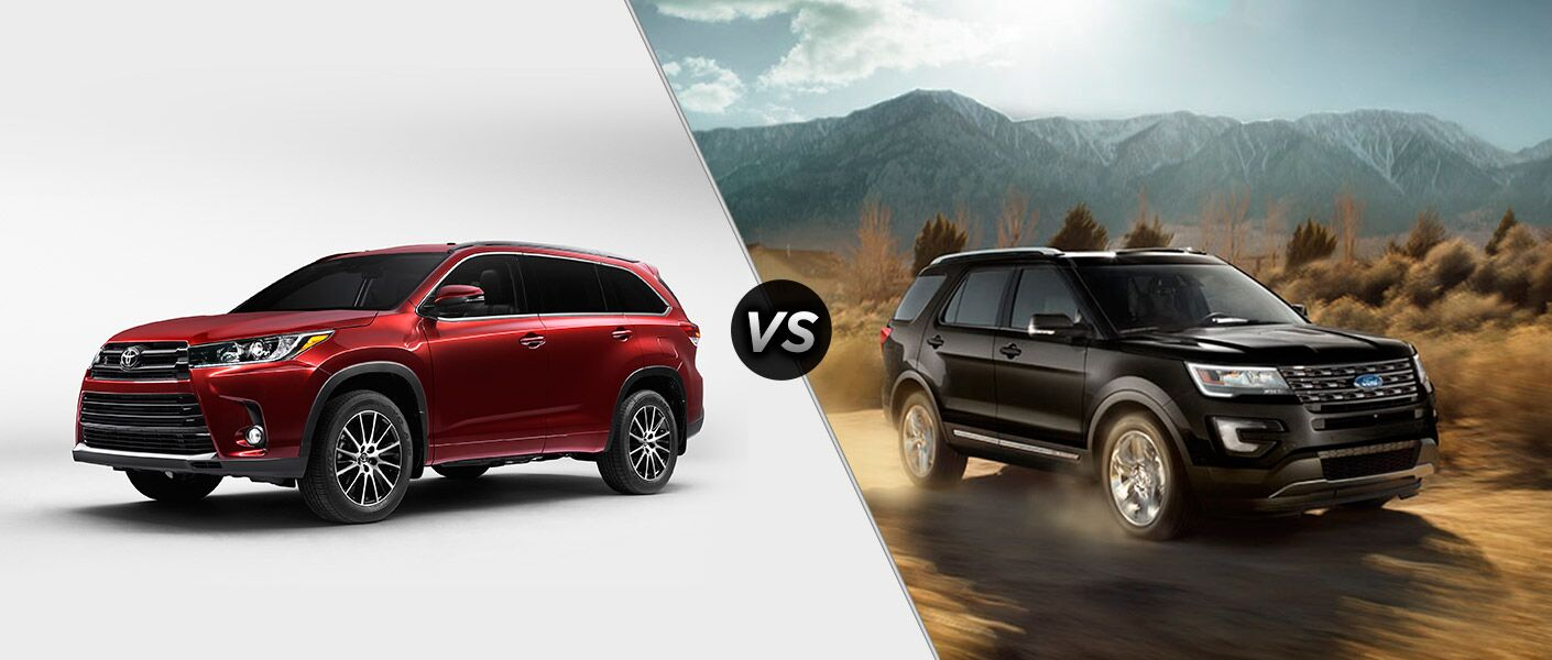 2017 toyota highlander vs 2017 ford explorer. Black Bedroom Furniture Sets. Home Design Ideas