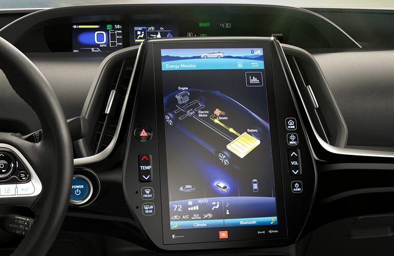 2017 Toyota Prius Prime interior infotainment system display