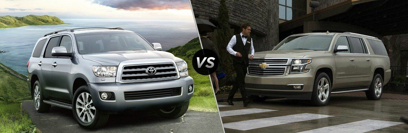 2017 Toyota Sequoia vs 2017 Chevy Suburban