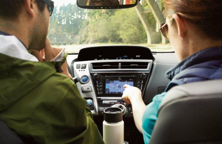 2017 Toyota Prius v interior infotainment system