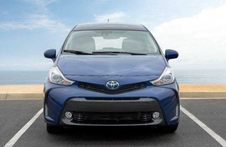 2017 Toyota Prius v exterior front blue