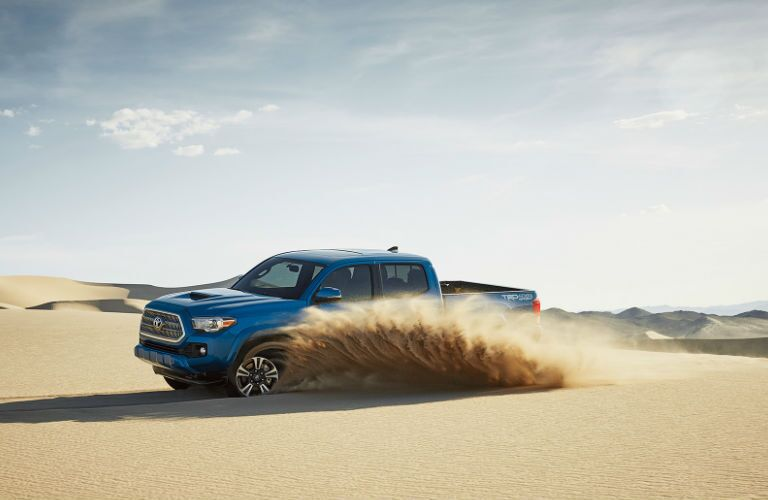Side View of the 2017 Toyota Tacoma TRD Sport in Blue