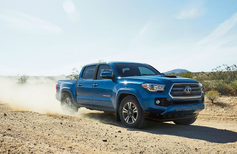 Side View of the Exterior of the 2017 Toyota Tacoma TRD Sport in Blue