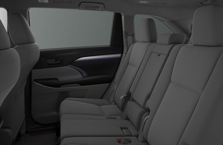 second-row seating of 2018 toyota highlander