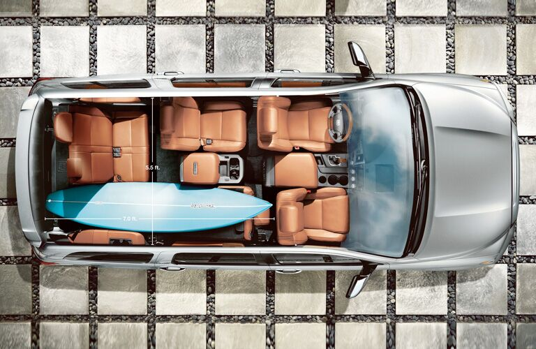 aerial view of seating of 2019 toyota sequoia