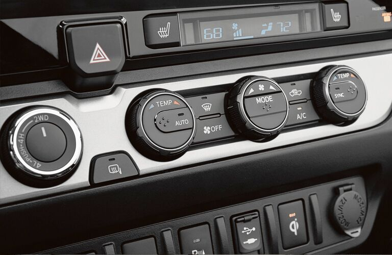 temperature and 4wd controls of 2019 toyota tacoma