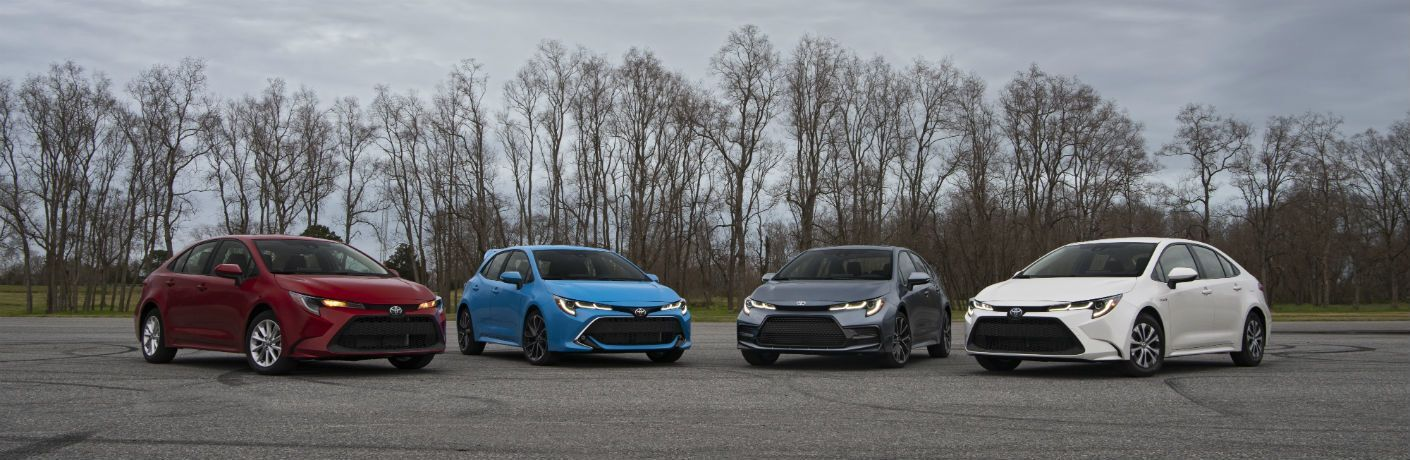 2020 Toyota Corolla Lineup Exterior Front Fascias & Angles