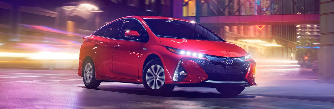 2020 Toyota Prius Prime driving on a street