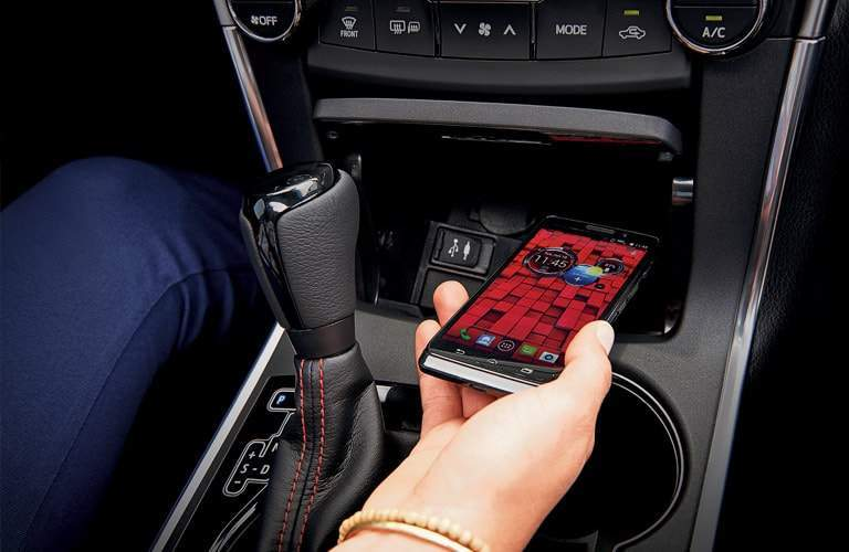 Wireless charging capability of the 2017 Toyota Camry