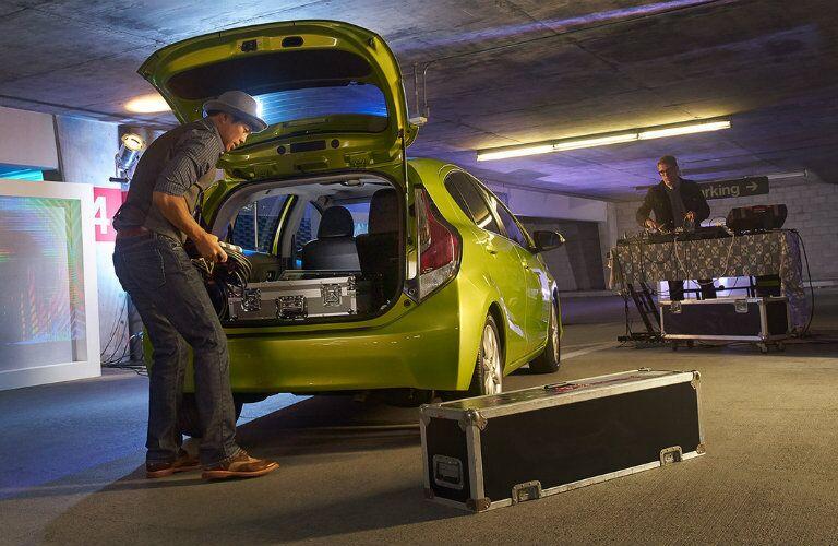 2016 Toyota Prius c cargo space