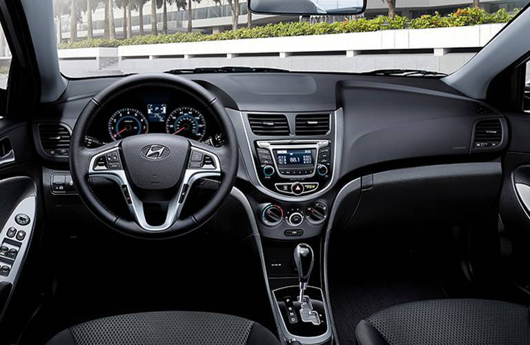 2017 Hyundai Accent dashboard and infotainment center
