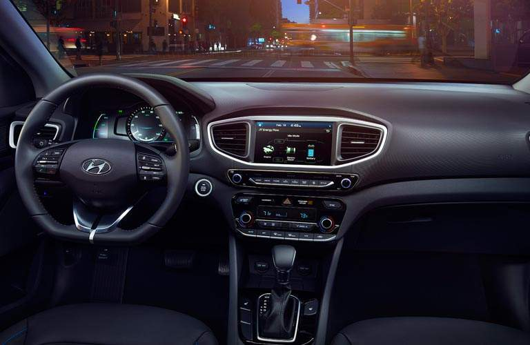 river cockpit view of 2017 Hyundai Ioniq Hybrid