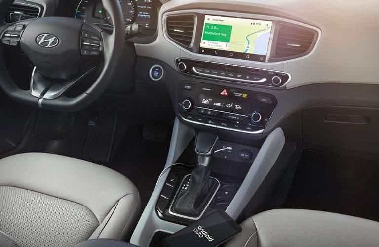 View of 2017 Hyundai Ioniq Hybrid center console