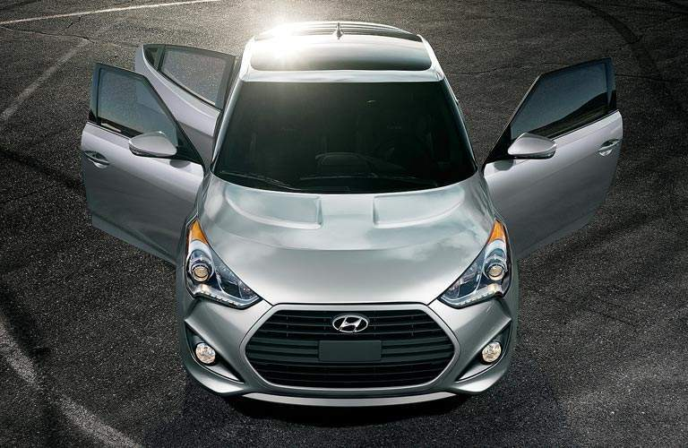 2017 Hyundai Veloster showing off three doors