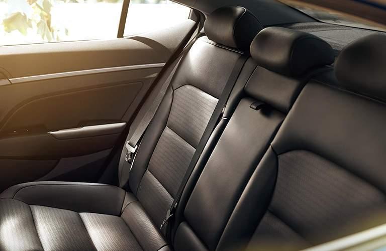 side view of the 2018 Hyundai Elantra's rear seats